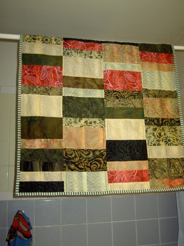 Chris and Luke baby quilt finished
