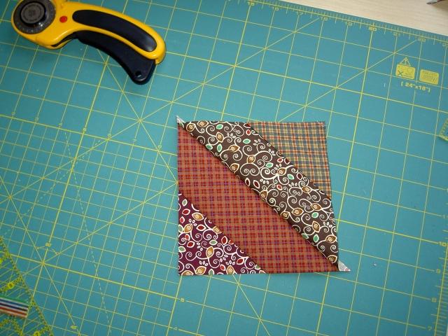 Quick piecing diagonal strip blocks09